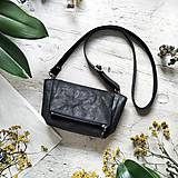 Kabelky - Kabelka CUTE bag - čierna s matným leskom - 12255478_