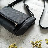 Kabelky - Kabelka CUTE bag - čierna s matným leskom - 12255480_