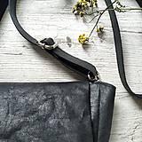 Kabelky - Kabelka CUTE bag - čierna s matným leskom - 12255483_