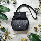 Kabelky - Kabelka CUTE bag - čierna s matným leskom - 12255484_
