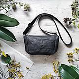Kabelky - Kabelka CUTE bag - čierna s matným leskom - 12255485_
