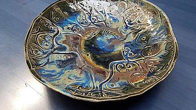 Nádoby - Námořnická modrá Keramická mísa, Spirála XX - 12255688_