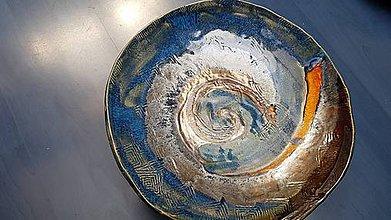 Nádoby - Keramická mísa, Spirála XXX - 12255708_