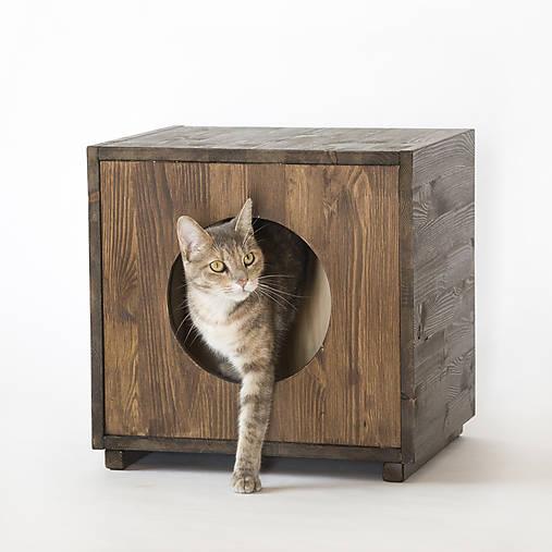 Mačací domček štvorcový