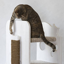 Pre zvieratká - Škrabadlo na mačacie domčeky - 12255494_