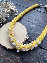 Náhrdelníky - Žlutý pošitý růženínem - 12254335_
