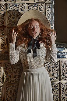 Šaty - Svadobné šaty z bavlnenej krajky s holými ramenami SKLADOM - 12253847_