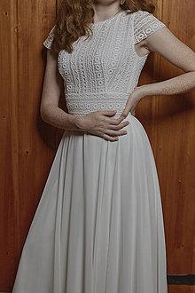 Šaty - Svadobné šaty z bavlnenej krajky - 12253906_