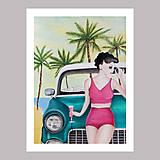 Obrazy - California dream grafika - 12256413_