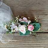 Ozdoby do vlasov - hrebienok..svadobný - 12256139_