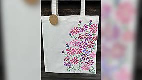 Nákupné tašky - ♥ Plátená, ručne maľovaná taška ♥ - 12258592_