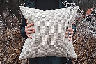 Úžitkový textil - Vankúš CREAM, 45 x 45 cm - 12256512_