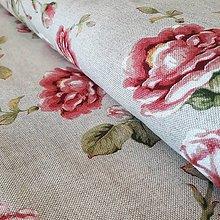 Textil - Ruže dekoračná látka - 12257475_