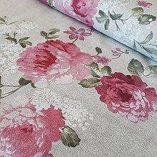 Textil - Ruže a orgován dekoračná látka - 12257538_