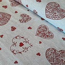 Textil - Srdiečka dekoračná látka - 12257880_