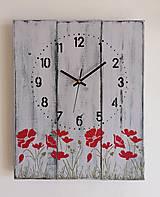 Hodiny - Nástenné hodinky - vlčie maky - 12260314_
