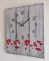 Hodiny - Nástenné hodinky - vlčie maky - 12260315_