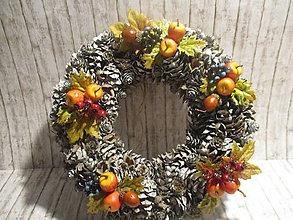 Dekorácie - Jesenný veniec - 12261547_