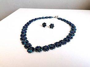 Sady šperkov - modrá krajka - 12259749_