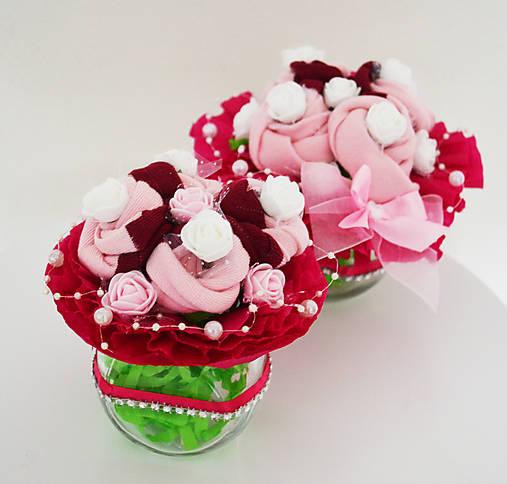 MINI Ponožkové kytice