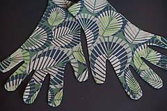 Rukavice - Úpletové rukavičky - Listy - 12261561_