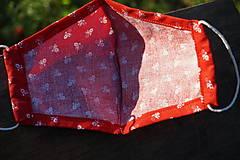 Rúška - Rúško - folklórny vzor, červené - 12261695_