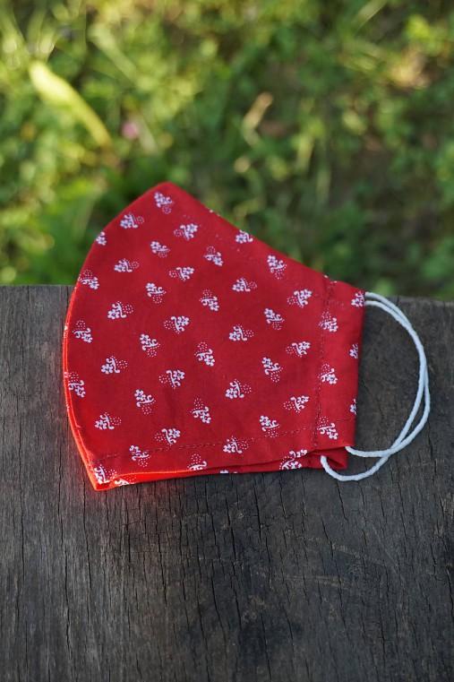 Rúško - folklórny vzor, červené