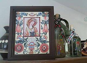 Obrázky - Ručná maľba na sklo slovenský ľudový motív - 12261714_