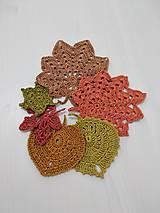 Úžitkový textil - háčkované jesenné listy - 12261234_