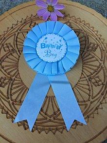 Odznaky/Brošne - brošňa na oslavu (Modrá) - 12260053_
