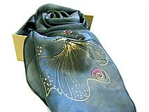 Šatky - Hodvábna šatka s monogramom - 12259941_
