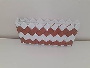 Kabelky - Bielo - medená kabelka - 12260287_