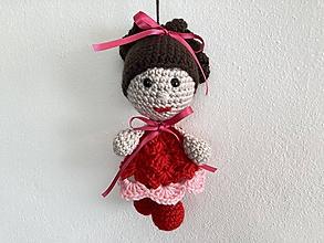 Hračky - bábika v červenej farbe - 12261810_