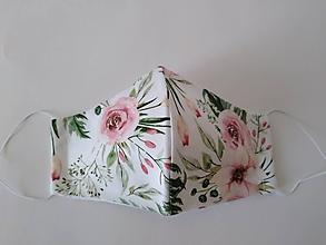 Rúška - Dizajnové rúško rose prémiové tvarované dvojvrstvové - 12262616_
