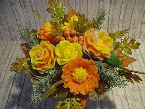 Dekorácie - Mydlová kytica jesenná - 12264087_
