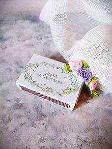 Darčeky pre svadobčanov - Zápalky na svadobný stôl - 12264256_