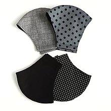 Rúška - Pánske rúško tvarované, 100 % bavlna - 12264042_