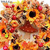 Dekorácie - Jesenný veniec s hríbikom - 12263652_