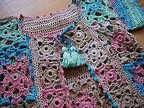 Detské oblečenie - vestička-letný svetrík s krátkym rukávom - 12263637_