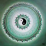 Obrazy - Mandalka NÁDEJ (silver) 40 x 40 - 12263745_