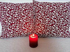 Úžitkový textil - Obliečky BORDOVÉ - 12263261_