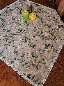Úžitkový textil - Obrus BIELY KVET - 12263994_