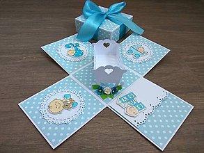 Papiernictvo - Exploding box pre chlapca - 12263346_
