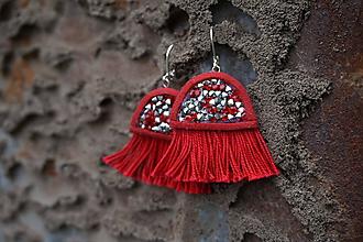 Náušnice - Medúzy červené - 12264361_