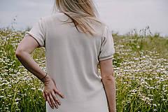 Šaty - Krémové šaty MELISA - 100% bavlna - 12262358_
