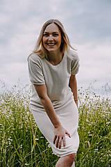 Šaty - Krémové šaty MELISA - 100% bavlna - 12262359_