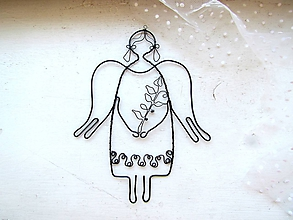 Detské doplnky - Anjel s halúzkou* 19 cm - 12263604_
