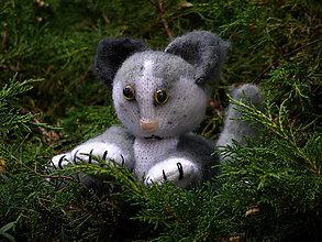 Hračky - mačička pletená - 12266040_