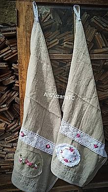 Úžitkový textil - Ľanové uteráky sada 2ks - 12266686_