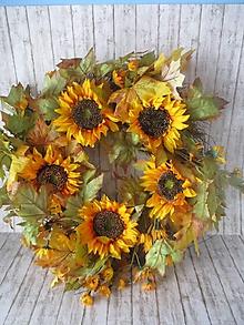 Dekorácie - Jesenný veniec - 12266007_